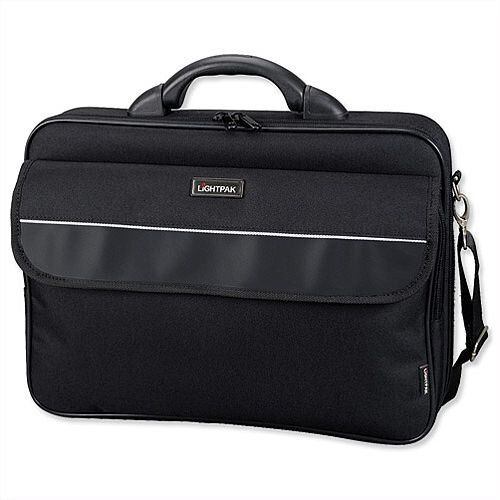 "Lightpak Elite Large Laptop Bag Nylon Capacity 17"" Black"