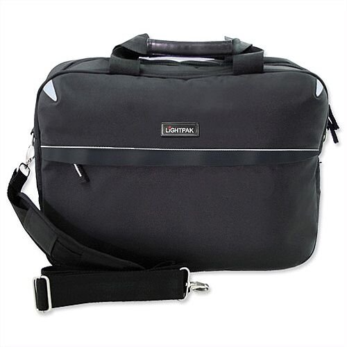 "Lightpak Laptop Bag Top Load with 15"" Laptop Compartment Nylon Black"