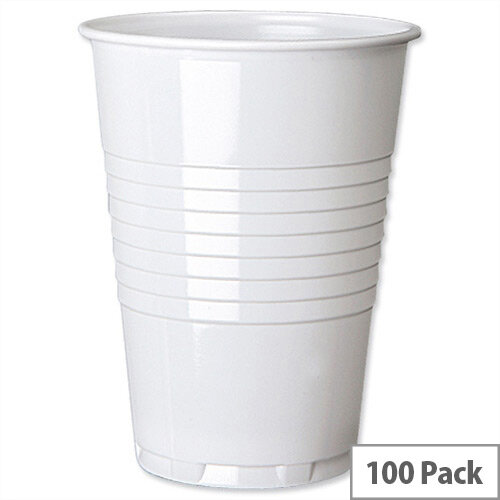 White Vending Drinking Cup Tall 7oz/200ml (Pack of 100)