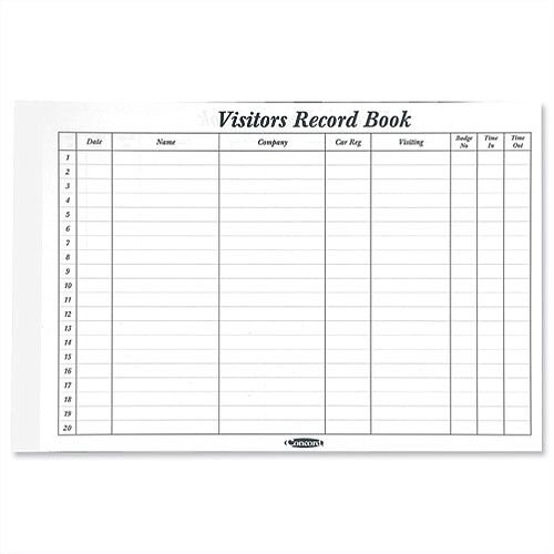 Visitors Book Refill 50 Sheets 2000 Entries 230 x 355mm Concord CD14P