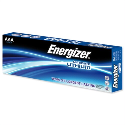 Energizer Ultimate AAA Lithium Battery LR03 10 Pack – 1.5 Volt, Reliable, Wide Temperature Range, 15 Year Shelf Life, Cylindrical Size &Last 8 Times Longer Than Similar Batteries (634353)