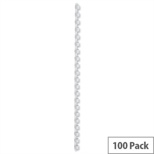 Binding Combs Plastic 21 Ring 55 Sheets A4 8mm White Pack 100 5 Star