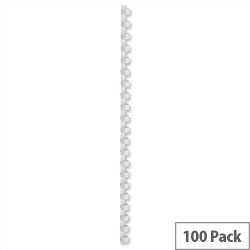 Binding Combs Plastic 21 Ring 75 Sheets A4 10mm White Pack 100 5 Star