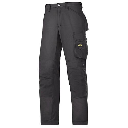 """Snickers 3313 Craftsman Trousers Rip-Stop Black Waist 38"""" Inside leg 30"""" Size 104"""