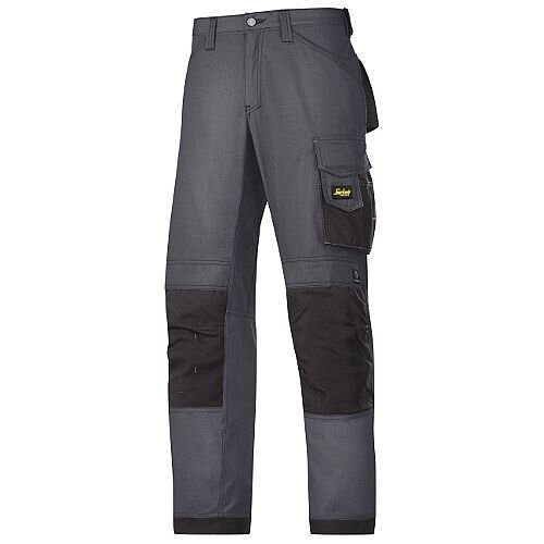 "Snickers 3313 Craftsman Trousers Rip-Stop Steel Grey/Black Waist 47"" Inside leg 30"" Size 120"