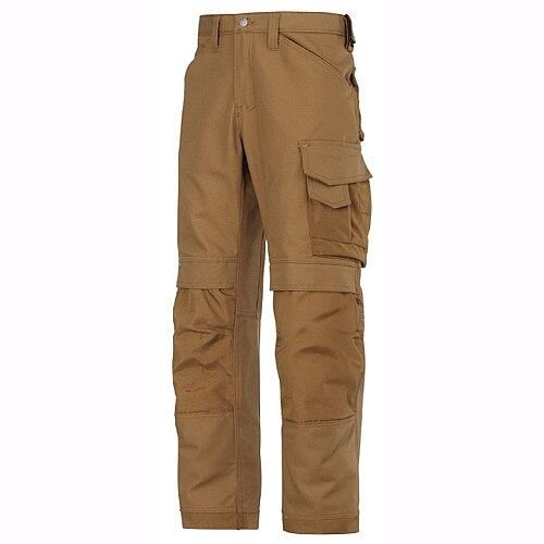 Snickers 3314 Canvas+ Trousers Brown