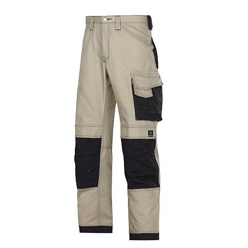 Snickers Canvas Plus Trousers Khaki Size 42 WW1