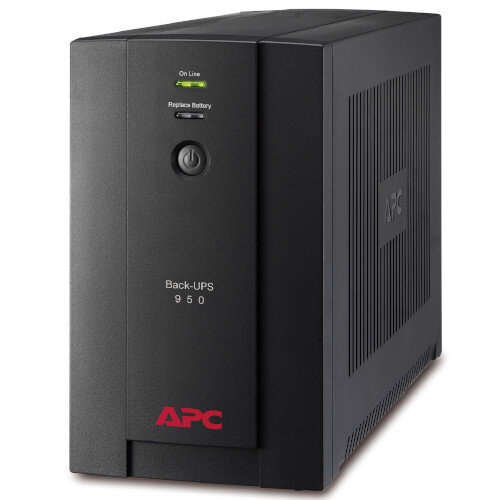 APC Backup UPS 950VA - UPS Storage - AC 230 V - 480 Watt - 950 VA - USB - Output Connectors: 6 - Colour: Black