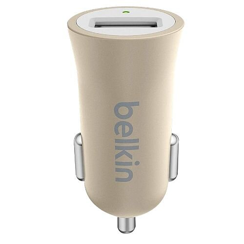 Belkin Premium MixIt Fast 2.4amp USB Car Charger Gold F8M730BTGLD
