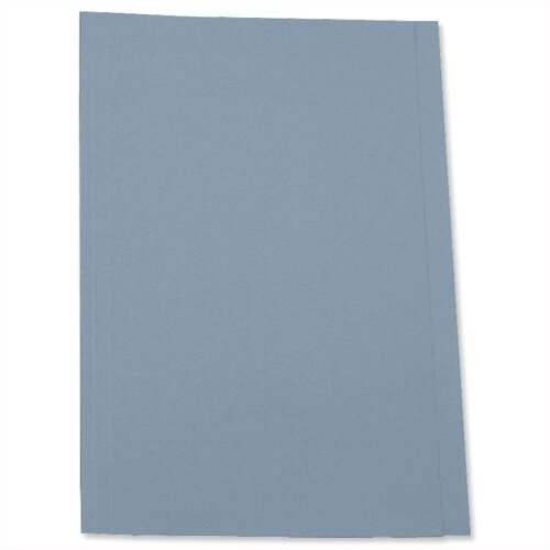 Pre-punched Foolscap Square Cut Folder Recycled Blue Pack 100 5 Star
