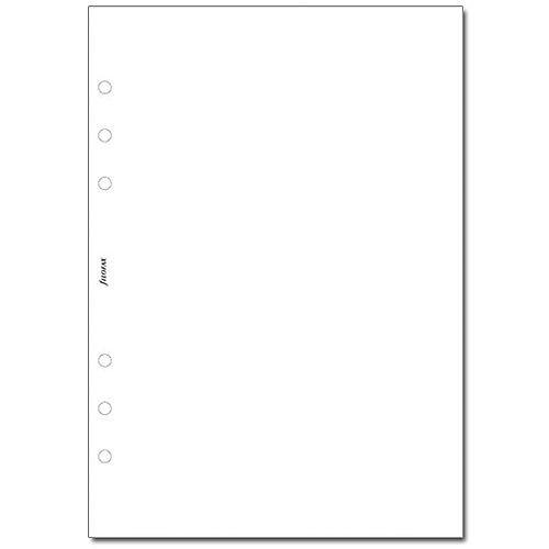 Filofax White A5 Plain Paper 25 Pack 342405