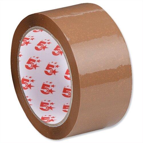 Packing Tape Polypropylene 48mm x 66m  Buff 5 Star