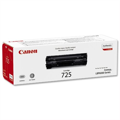 Canon 725 Black Laser Toner Cartridge 3484B002