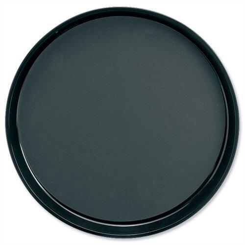 Round Carry Tray Non Slip Dishwasher Safe Diameter 300mm Black
