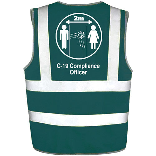 Hi Vis Vest Green XLarge C-19 Compliance Officer Ref: 35231-7-XL
