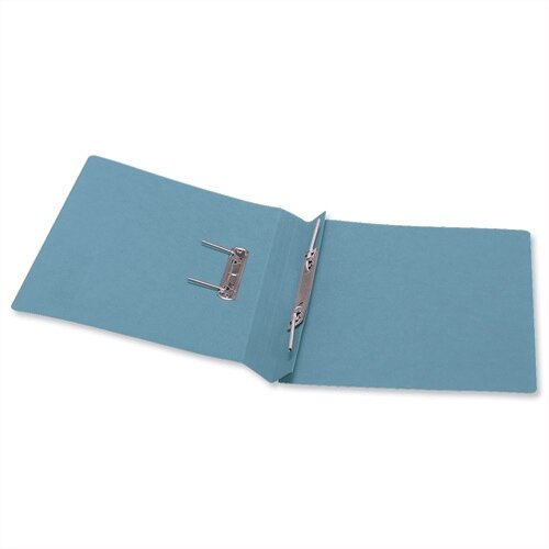 5 Star Office Transfer Spring File 285gsm 38mm Foolscap Blue Pack 50