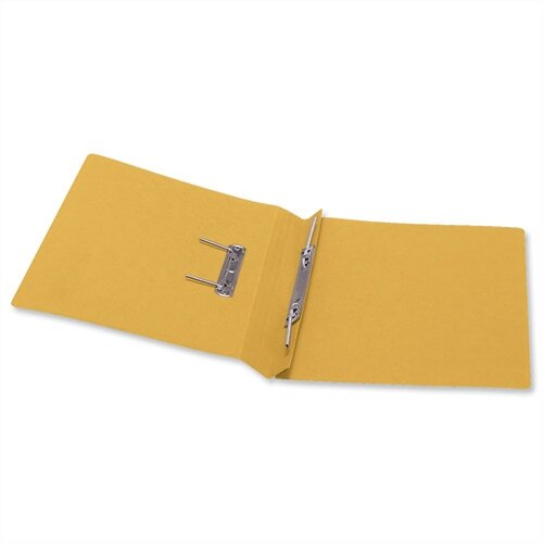 Office Transfer Spring File 315gsm 38mm Foolscap Yellow Pack 50