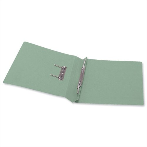 Office Transfer Spring File 315gsm 38mm Foolscap Green Pack 50 356580