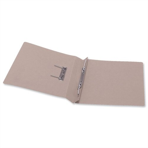 Office Transfer Spring File 315gsm 38mm Foolscap Buff Pack 50