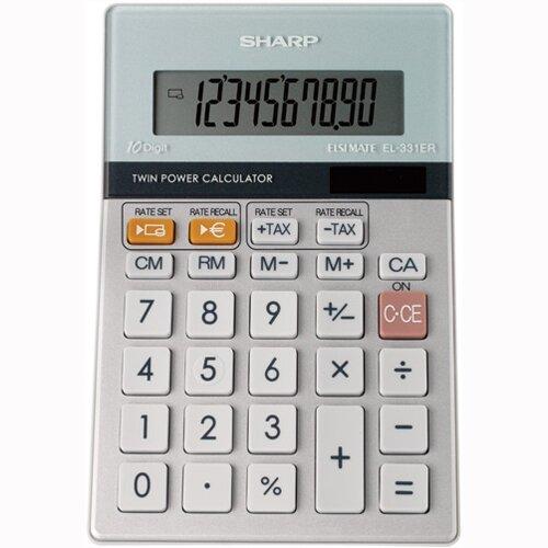 Sharp Desktop Calculator Battery Solar-power EL331ERB
