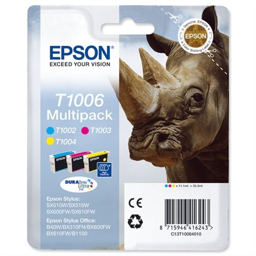 Epson Rhino T1006 Ink Cartridge Pack 3 Multi Pack