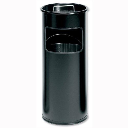 Ashtray Cigarette Bin Black Capacity 17 L Durable