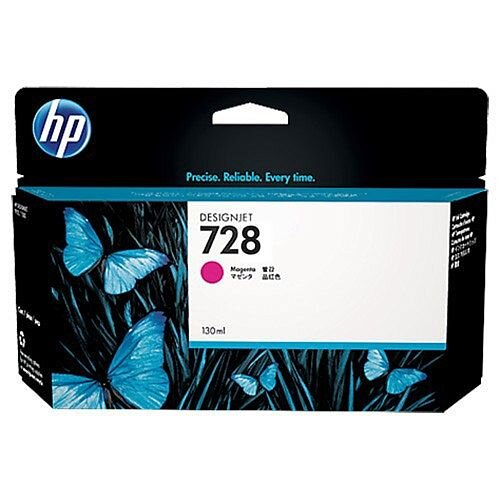 HP 728 Magenta (Dye) 130ml Original DesignJet Ink Cartridge F9J66A
