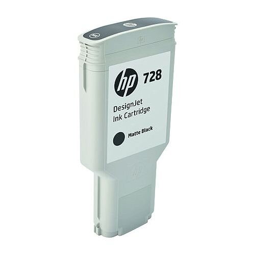 HP 728 Matte Black (Dye) 300ml Original DesignJet Ink Cartridge F9J68A