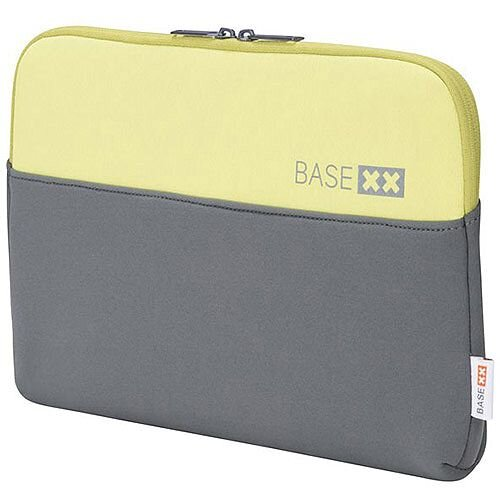 DICOTA BASE XX Laptop Sleeve 11.6in Grey &Lime