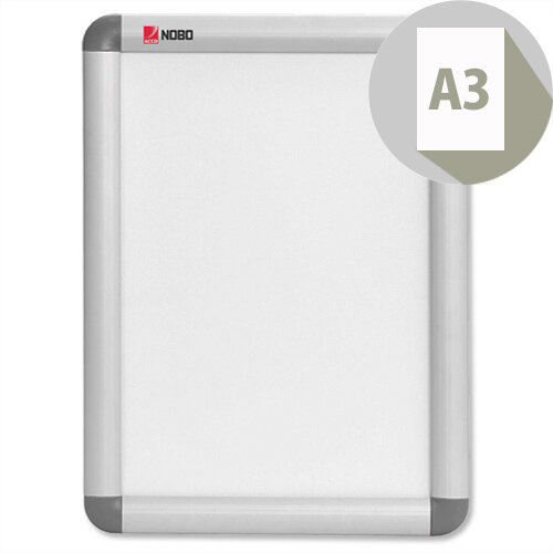 Nobo A3 Clip-down Frame Moulded Aluminium Front-opening 420x297mm