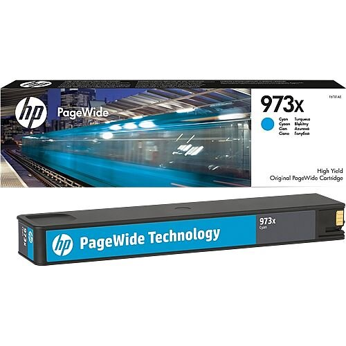 HP 973X Cyan High Capacity PageWide Ink Cartridge F6T81AE