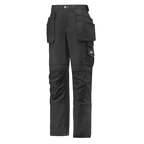 "Snickers 3714 Women's Holster Pocket Trousers Canvas+ Size 22 WAIST 33"" LEG 29"" Black"