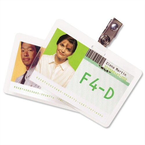 GBC ID Badge Laminating Pouches 250 Micron 67x98.5mm Pack 100