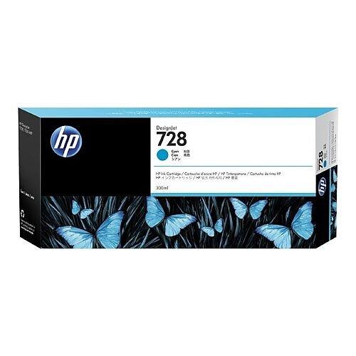 HP 728 Cyan (Dye) 300ml Original DesignJet Ink Cartridge F9K17A