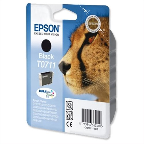 Epson (T0711) Black Ink Cartridge Cheetah Series (C13T07114012) (C13T07114010)