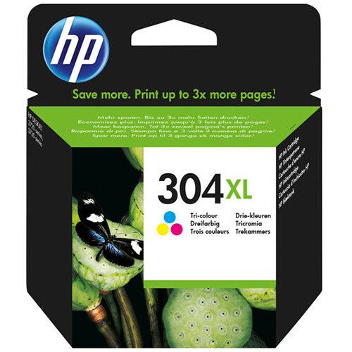 HP 304XL - High Yield - dye-based tricolour - original - ink cartridge
