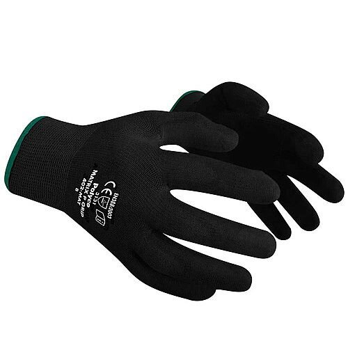 Polyco Matrix P Grip Work Gloves Polyurethane Tight-fit Size Black 9 M/L-Men or XXL-Women Pack 12 Black