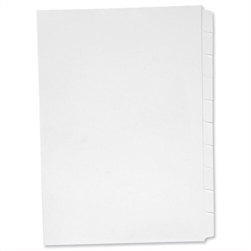 Concord Presentation Index Unpunched 10-Part A4 White Pack 25