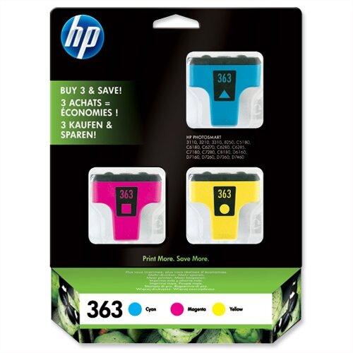 HP 363 Colours Inkjet Cartridge 3 Pack CB333EE