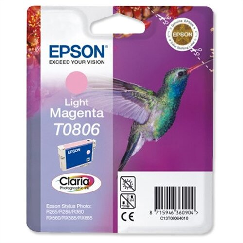 Epson T0806 Light Magenta Photo Ink Cartridge (C13T08064011)