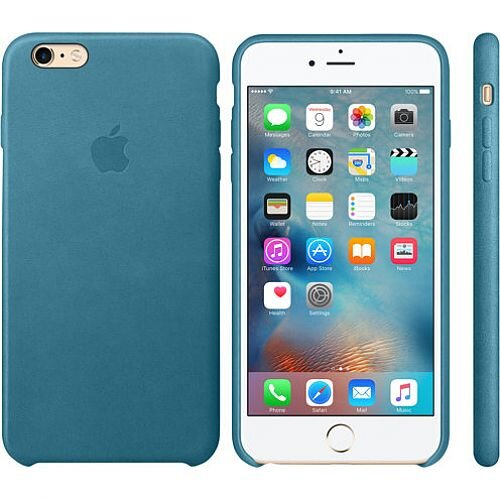 sports shoes 05c7e 50717 Apple Leather Back Cover for iPhone 6 Plus/6s Plus Marine Blue