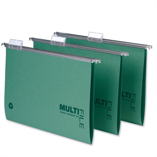 Rexel Multifile Suspension File A4 Green Ref 78617 [Pack 50]