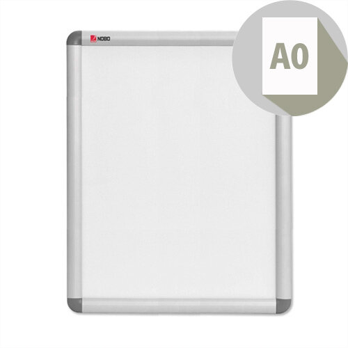 Nobo A0 Clip-down Frame Moulded Aluminium Front-opening 1189x841mm