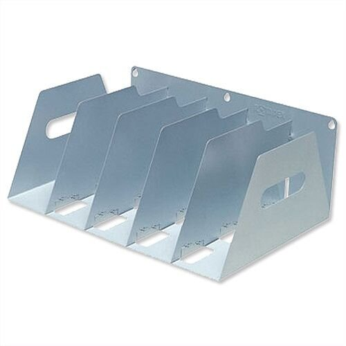 Lever Arch Filing Rack Portable Grey A4 Rigid Metal