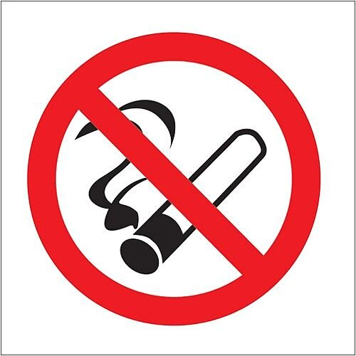 Stewart Superior Sign No Smoking Vehicle 100x100mm Self-adhesive Vinyl Clear Ref SB012SAV