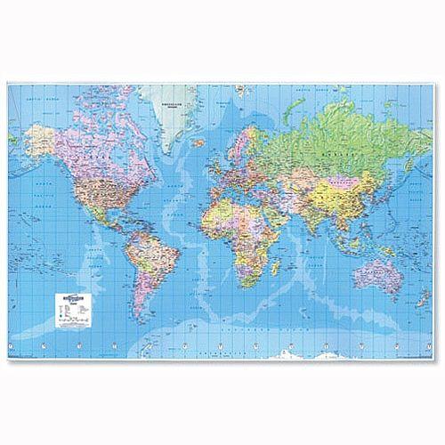 3d World Map Giant Unframed Map Marketing Gwld Huntoffice Ie