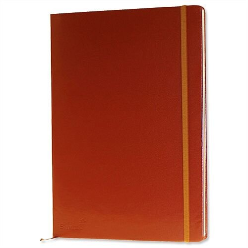 Silvine Executive Soft Feel A4 Notebook Ruled 160 Pages Tan