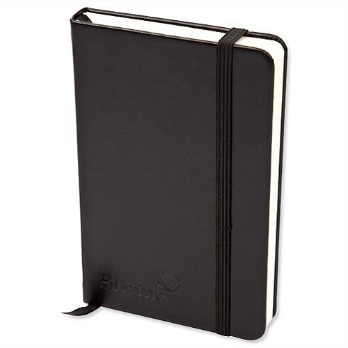 Silvine Executive Soft Feel A4 Notebook Ruled 160 Pages Black