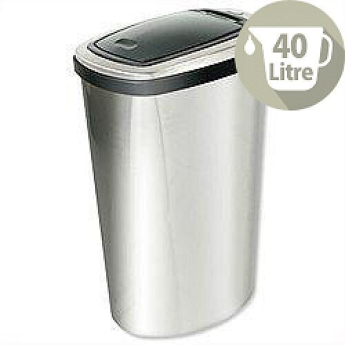 Addis Press Top Bin with Inner Liner 40L Stainless Steel