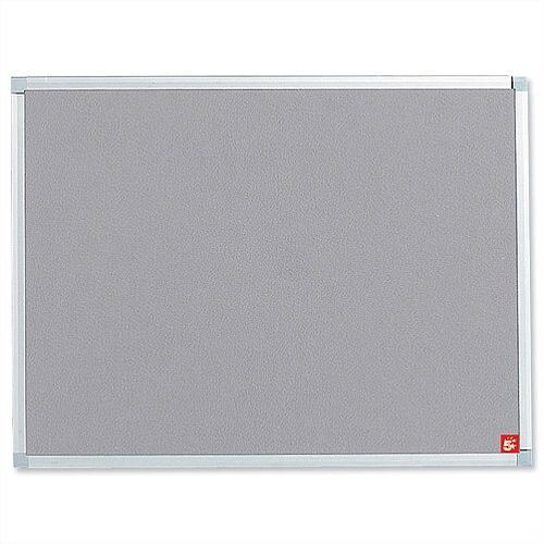 Grey Notice Board Aluminium Trim with Fixings 900 x 600mm 5 Star